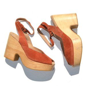 Free People Coolly Suede Open Toe Clogs Size 37